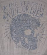 King Kerosin Batik Vintage Shirt - Ride or Die / grey