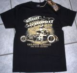 King Kerosin Regular T-Shirt / Greaser Garage - schwarz