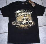 King Kerosin Regular T-Shirt / Greaser Garage - black
