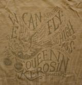 Queen Kerosin Batik Vintage Shirt / We can Fly - grau