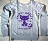 Sweatshirt Bad Cat von Queen Kerosin / grey