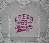 Sweatshirt  von Queen Kerosin - Queen of the Hell / rosa