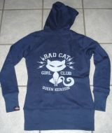 Sweatjacket Bad Cat von Queen Kerosin / blue