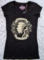 Queen Kerosin Longshirt / Nst - Wild Cat / schwarz
