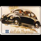 Blechpostkarte - VW Vorsprung