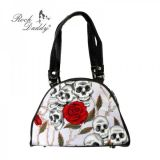 Rock Daddy Handtasche BAG-with skull and roses design