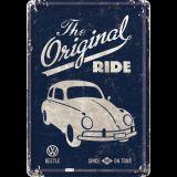 Blechpostkarte - VW Beetle / The Original Ride