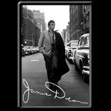 Blechpostkarte - James Dean / Road