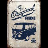 Blechpostkarte - VW Bulli / The Original Ride