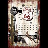 Nostalgie Blech Kalender - Route 66 Desert