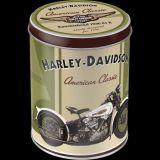 Blech Vorratsdose Rund - Harley-Davidson Knucklehead