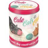 Blech Vorratsdose Rund - Cute Cats Club