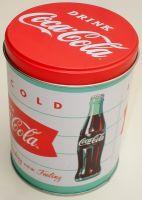 Blech Vorratsdose Rund - Coca Cola / Diner weiss