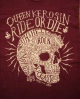 Queen Kerosin Batik Vintage Shirt / Ride or Die - Lila