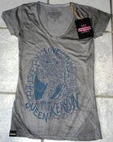 Queen Kerosin Batik Vintage Shirt Btvf-FOL / grey - Forever Love