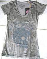 Queen Kerosin Batik Vintage Shirt / Ride or Die - grau