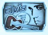 Buckle B-Elvis / Elvis King of Rock`n` Roll / Red guitar