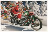 X-Mas Cards Motorcycle  X - 436