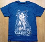 King Kerosin Regular T-Shirt Blau / Sexy Motor Girl