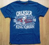 King Kerosin Regular T-Shirt Blau / Greaser Car Club