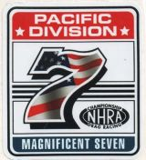 Race Sticker - Pacific Division Magnificent 7 / NHRA - gross