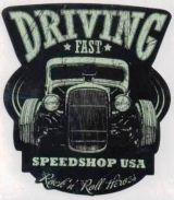 Vintage Race Sticker - Driving Fast Speed Shop USA