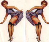 Pin up Sticker St-Lila Vintage Girl