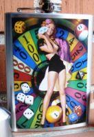 Flachmann Chromstahl / Lucky Girl Roulette -BT06