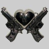 Rock Rebel Buckle  - Chrome Heart Gun