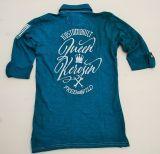 Batik Vintage Poloshirt von Queen Kerosin- Free & Wild grün