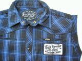 Ärmelloses Karo Shirt blau/schwarz - Blanko