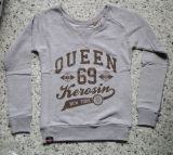 Sweatshirt  von Queen Kerosin - Queen of the Hell / grau - braun