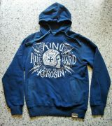 Used-Airbrush-Hoodie blau - Team 666 / Ride Hard