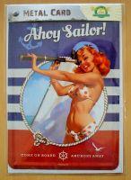 Blechpostkarte - Pin up Ahoy Sailor