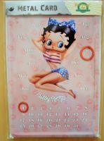 Kalender Blechpostkarte - Betty Boop / Hot ?