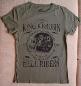 Watercolor-Shirt von King Kerosin / Speed Demons Crew- Olive