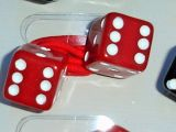 Dice Scrunchy from Rock Daddy - red