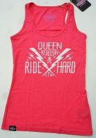 QUEEN KEROSIN Melange Tank Top TTG- Ride Hard Pink
