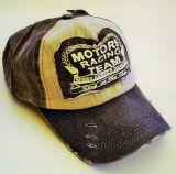 Vintage Trucker Cap - Motors Racing Team - schwarzbraun/blau