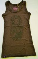 Longtop von Queen Kerosin - Tattooed Girl / grau