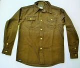 Vintage-Canvas-Shirt dusty olive - Live Free, Ride Hard