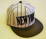 New York Snapback Cap - weiss/schwarz