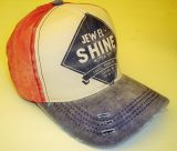 Vintage Trucker Cap - Jewel Shine - rot/blau