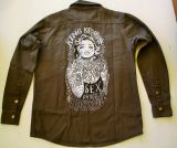 Vintage-Canvas-Shirt dusty olive - Tattooed Girl