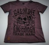 Mechanic-Shirt von King Kerosin - Gas Or Die / Lilabraun