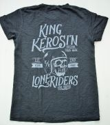 Oilwashed-Shirt von King Kerosin - Lone Riders / black