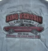 Dragstrip-Shirt Burning the Road Limited Edition von King Kerosin - schwarz