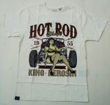 King Kerosin Regular T-Shirt offwhite / Hot Rod Shop 1955