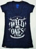 Queen Kerosin Batik Vintage Shirt / Wild Ones - dark navy