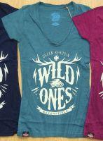 Queen Kerosin Batik Vintage Shirt / Wild Ones - türkisblau